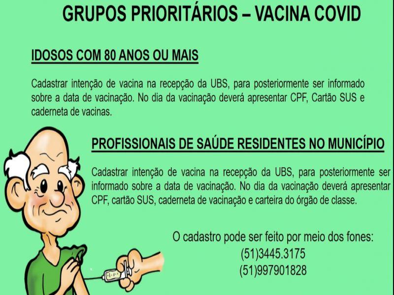 Foto da Notícia VACINA CONTRA A COVID
