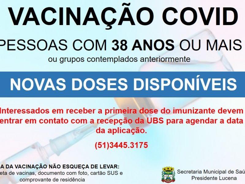 Foto de capa da notícia MUNICÍPIO RECEBE NOVAS DOSES DA VACINA CONTRA A COVID