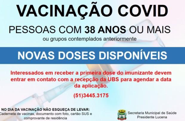 Foto de capa da notícia: MUNICÍPIO RECEBE NOVAS DOSES DA VACINA CONTRA A COVID