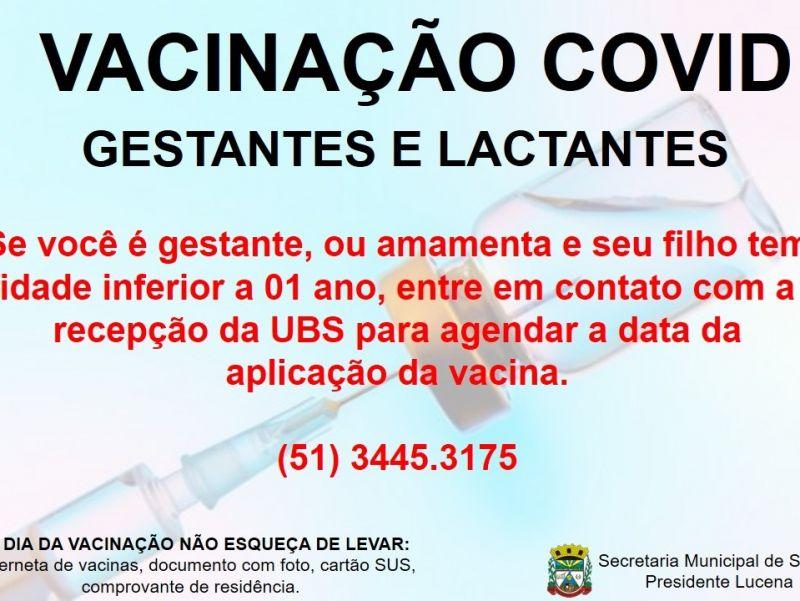 Foto de capa da notícia VACINAÇÃO COVID PARA GESTANTES E LACTANTES