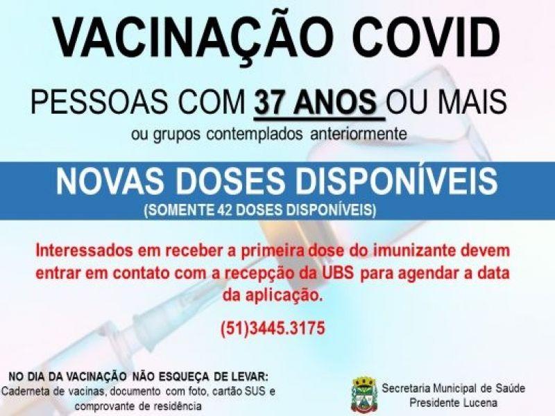 Foto de capa da notícia NOVAS DOSES DE VACINA CONTRA A COVID DISPONÍVEIS