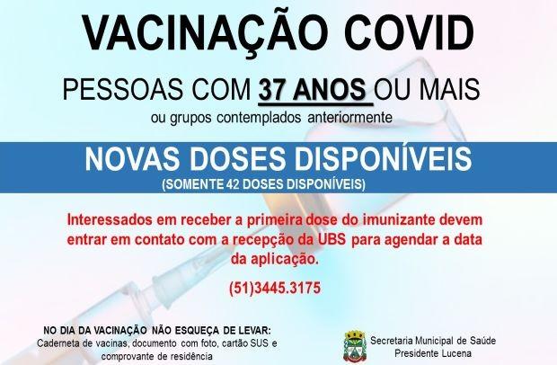 Foto de capa da notícia: NOVAS DOSES DE VACINA CONTRA A COVID DISPONÍVEIS