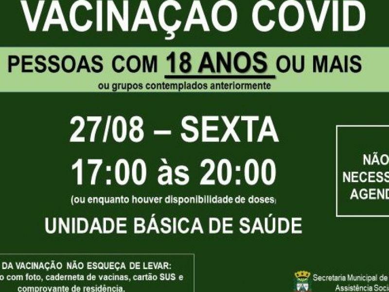 Foto de capa da notícia VACINAÇÃO COVID