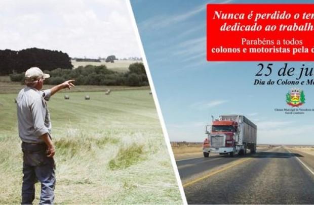 Foto de capa da notícia: Homenagem ao Colono e Motorista