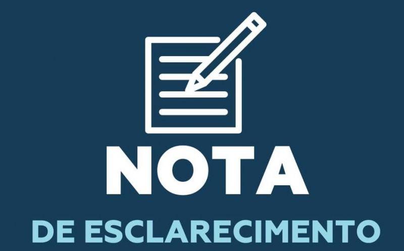 Foto de capa da notícia NOTA DE ESCLARECIMENTO