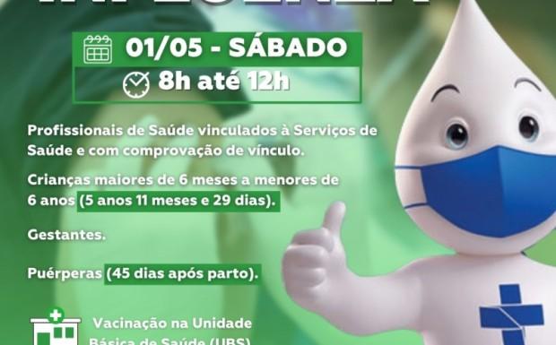 Foto de capa da notícia: SÁBADO DE VACINAÇÃO CONTRA A INFLUENZA