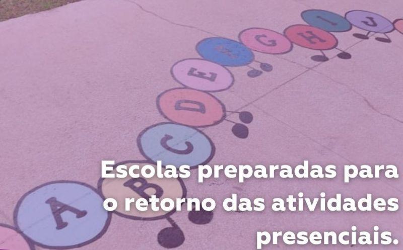 Foto de capa da notícia: Escolas estão prontas para o retorno das atividades presenciais