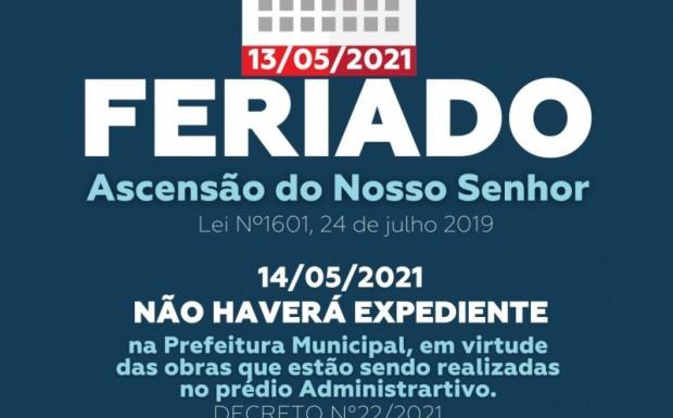 Foto de capa da notícia: FERIADO DE ASCENSÃO DO NOSSO SENHOR NESTA QUINTA-FEIRA, 13 DE ABRIL