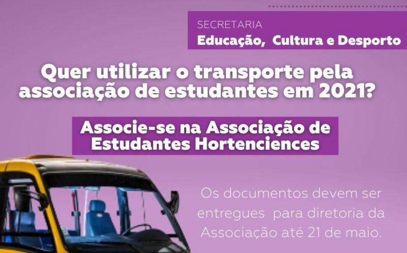 Foto da Notícia Utilize o transporte pela associação de estudantes em 2021