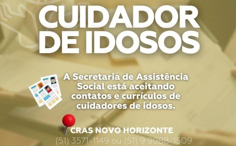 Foto de capa da notícia Cuidadores de Idosos podem deixar seu currículo na Assistência Social do município