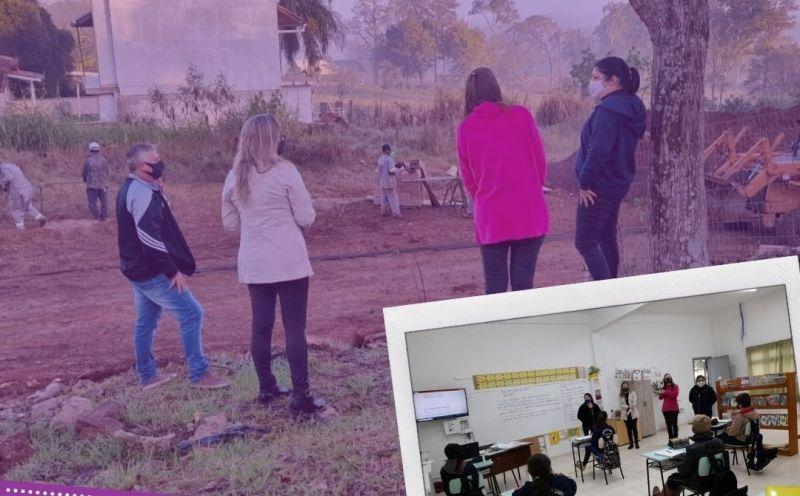 Foto de capa da notícia Prefeita Ester visita escola do município