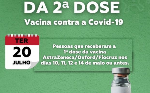 Foto de capa da notícia: Antecipação da 2ª dose da vacina contra a Covid-19