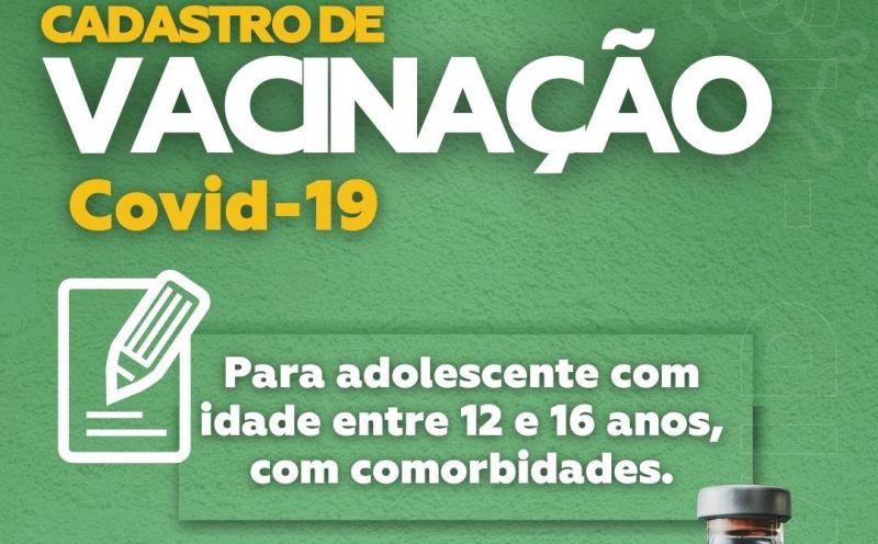 Foto de capa da notícia: Cadastro de vacinação contra a Covid-19 de adolescentes com comorbidades