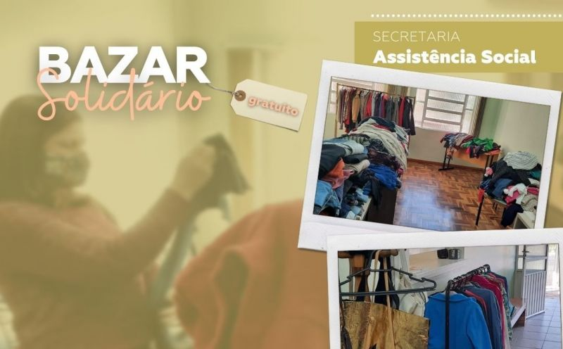 Foto de capa da notícia Bazar Solidário de São José do Hortêncio