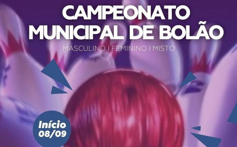 Foto de capa da notícia Inscrições abertas para o Campeonato Municipal de Bolão de São José do Hortêncio