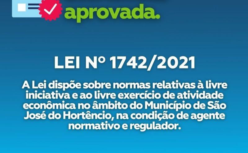 Foto de capa da notícia Lei da Liberdade Econômica é aprovada em São José do Hortêncio