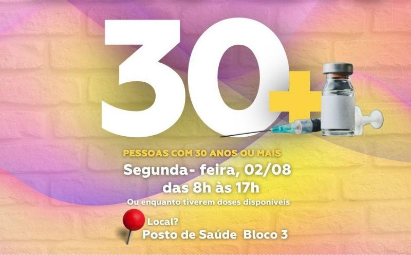 Foto de capa da notícia Pessoas com 30 anos ou mais estão sendo vacinadas em São José do Hortêncio