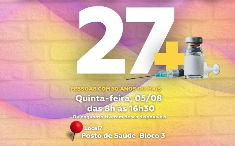 Foto de capa da notícia Pessoas com 27 anos ou mais estão sendo vacinadas em São José do Hortêncio
