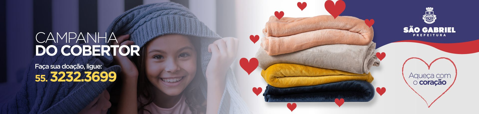 Banner 1 - Banner Doação de Cobertores