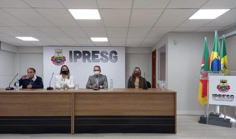 Foto de capa da notícia: IPRESG INAUGURA AUDITÓRIO SÔNIA VIEDO