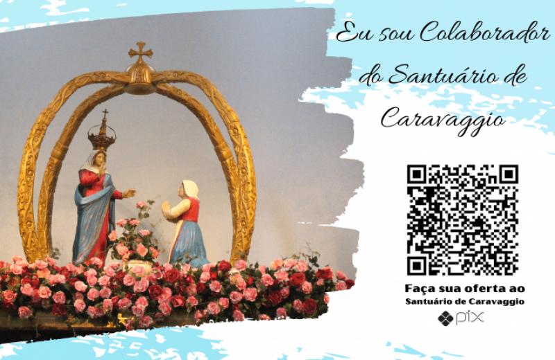 Foto de capa da notícia: Fiéis podem ajudar o Santuário de Caravaggio pela internet