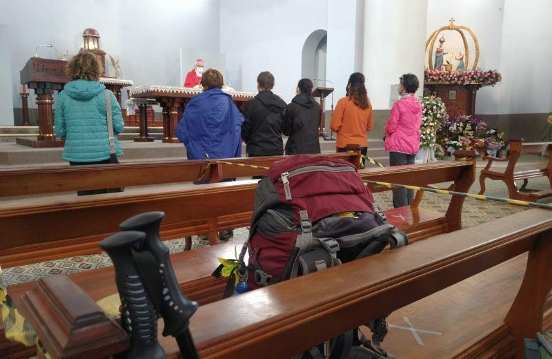Foto de capa da notícia: Missa do Peregrino: Caminhantes são convidados a celebrar participação no Caminhos de Caravaggio