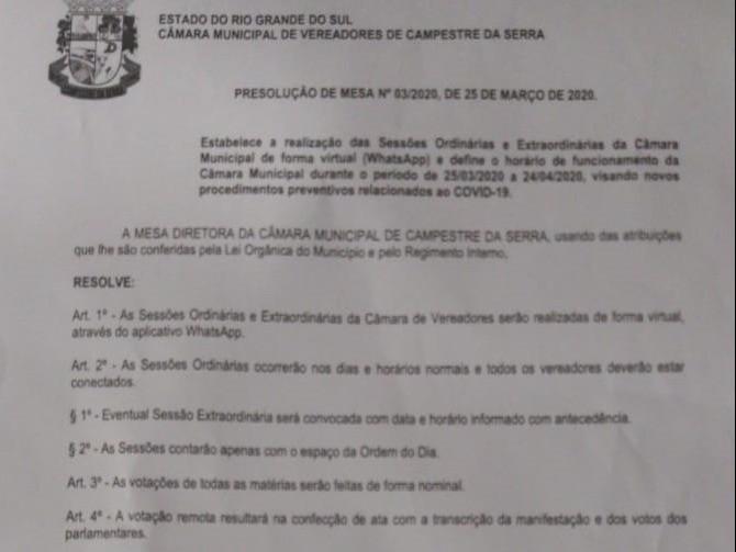Foto de capa da notícia: Câmara publica nova resolução sobre funcionamento e realização das sessões