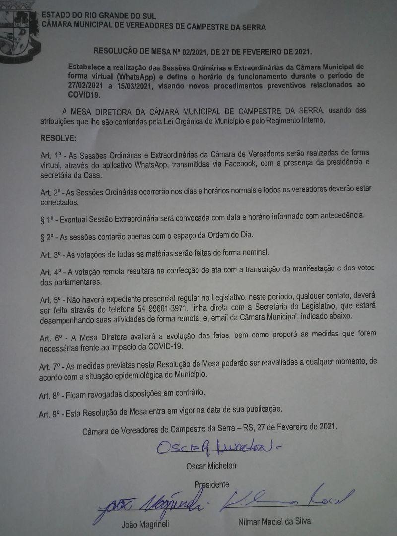 Resolução 02/2021