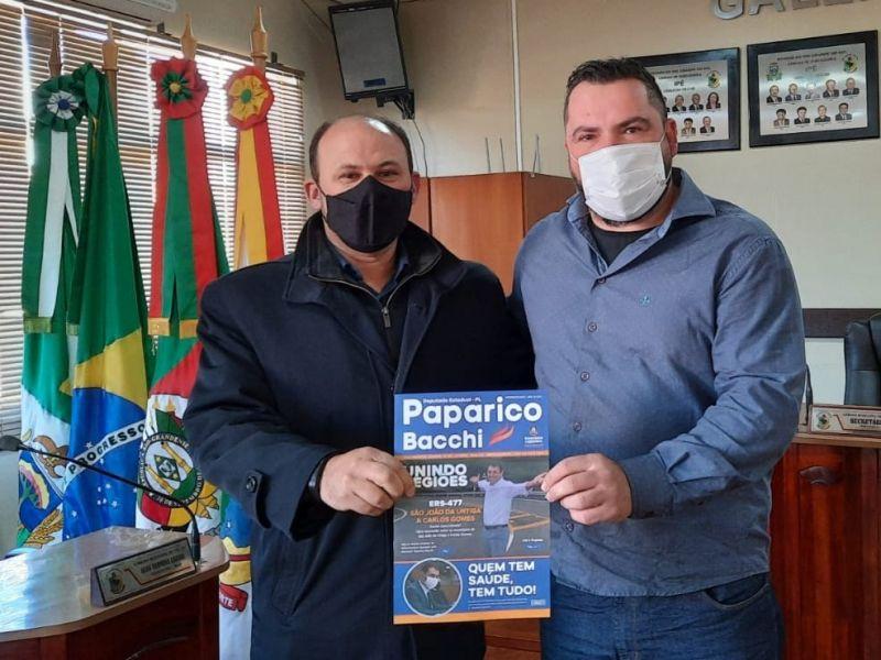 Foto de capa da notícia Secretário da Mesa Diretora, recebe Assessor do Deputado Paparico Bacchi