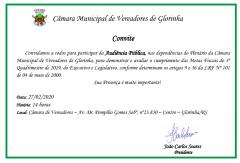 Foto de capa da notícia: A Câmara Municipal de Vereadores convida:
