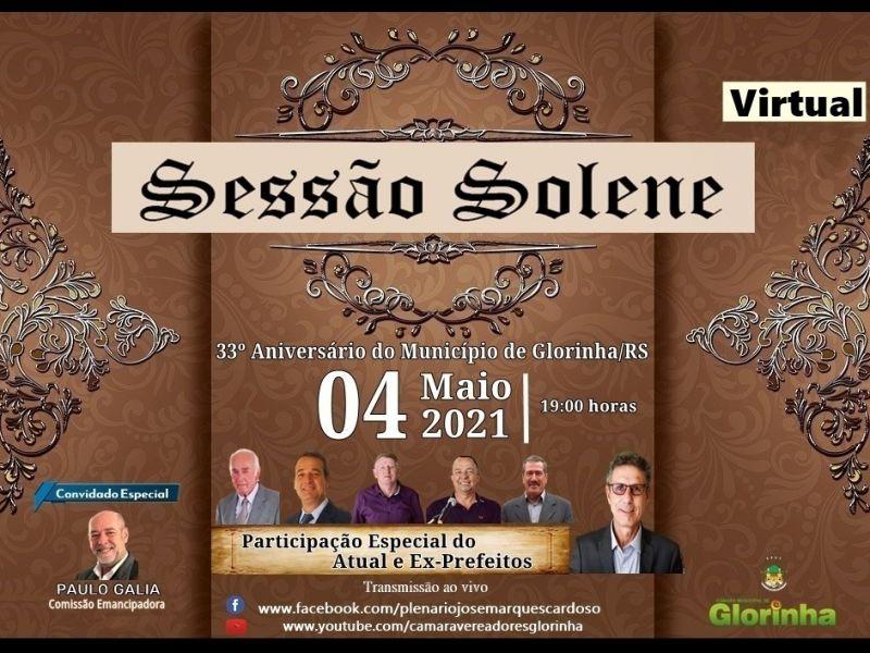 Foto de capa da notícia: SESSÃO SOLENE EM HOMENAGEM AO ANIVERSÁRIO DO MUNICÍPIO