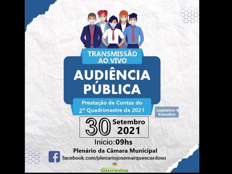 Foto de capa da notícia Convite para Audiência pública