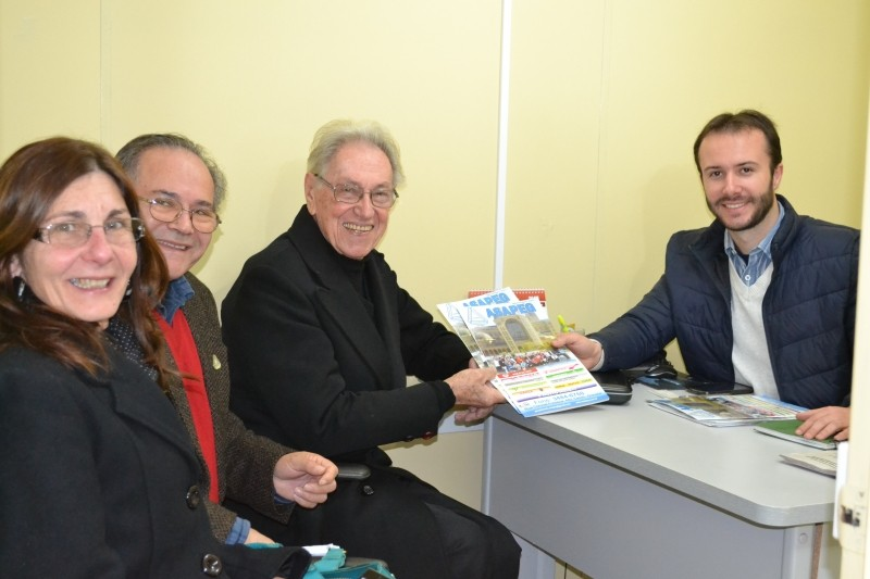 Foto de capa da notícia Diretoria da ASAPEG visita a Câmara de Vereadores