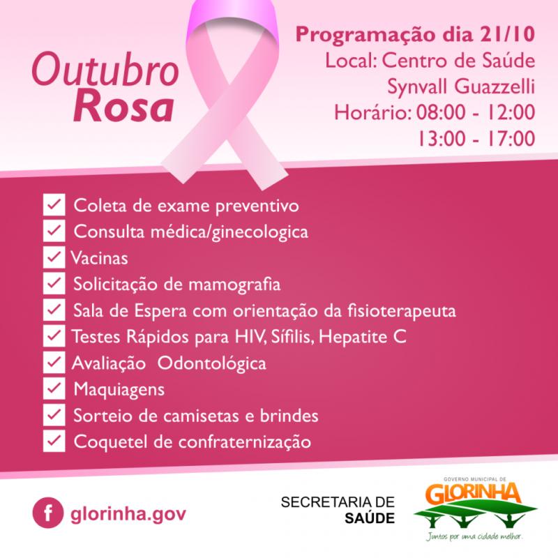 Foto de capa da notícia Prefeitura promove programação especial para o Outubro Rosa