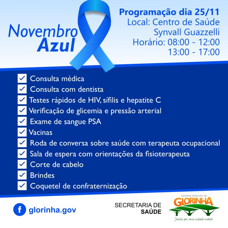 Foto de capa da notícia Prefeitura promove programação especial para o Novembro Azul
