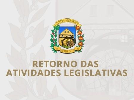 Foto de capa da notícia: VEREADORES RETORNAM DO RECESSO PARLAMENTAR