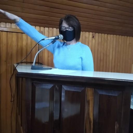 Foto de capa da notícia: SUPLENTE ANA METZ ASSUME CADEIRA NA CÂMARA.