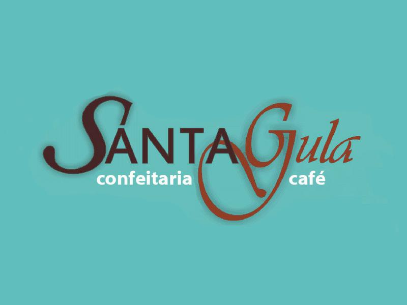 Logotipo Santa Gula Confeitaria Café