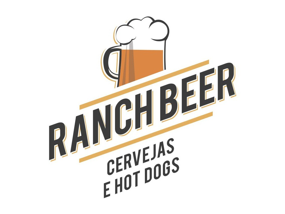 Logotipo Ranch Beer – Cervejas e HotDogs