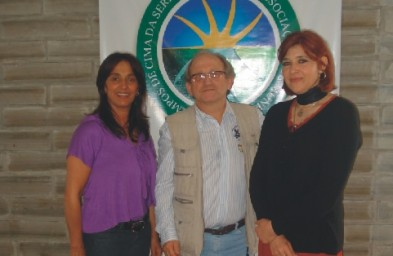 Dr. Osvaldo Bortolon, Dra.Neiva Maria Pacheco Silveira e Mara Valmorbida Barcellos