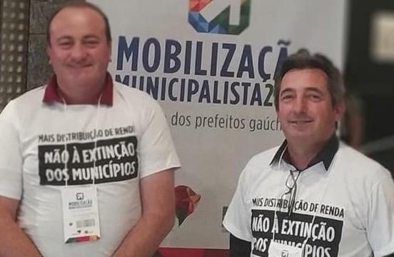Foto Participação da Associação dos Municípios dos Campos de Cima da Serra - AMUCSER na Mobilização Municipalista 2019.