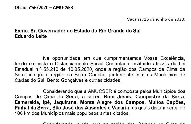 Foto Manifestação da AMUCSER referente a Determinação do Governo do Estado a Vigência da Bandeira Vermelha para a Região da Serra.