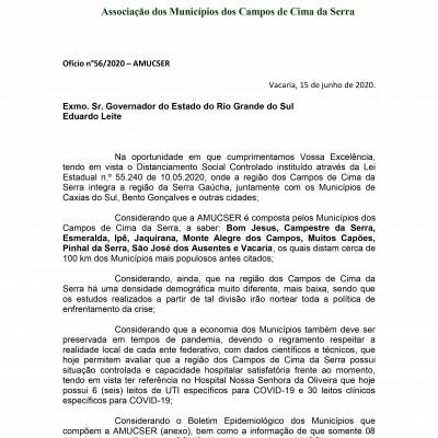 Foto de capa Manifestação da AMUCSER referente a Determinação do Governo do Estado a Vigência da Bandeira Vermelha para a Região da Serra.