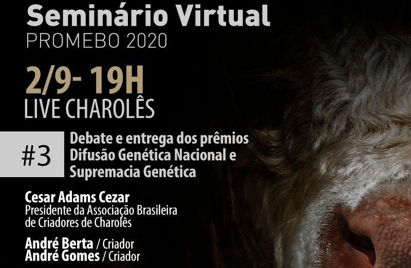 Foto Charolês é foco de live do Promebo nesta quarta-feira, 02/09