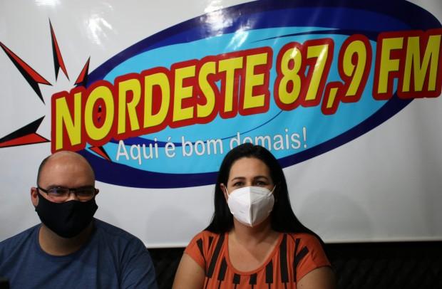 Foto de capa: ENTREVISTA NA RÁDIO NORDESTE FM/APARADOS DA SERRA