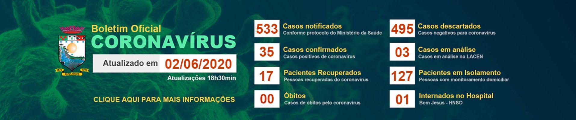 Banner 3 - Boletim Informativo 02 de junho