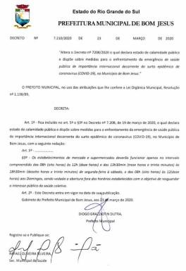 Foto de capa da notícia: Decreto redefine horário de funcionamento de estabelecimentos comerciais