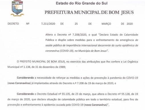 Foto de capa da notícia: Decreto regula normas de enfrentamento ao coronavírus