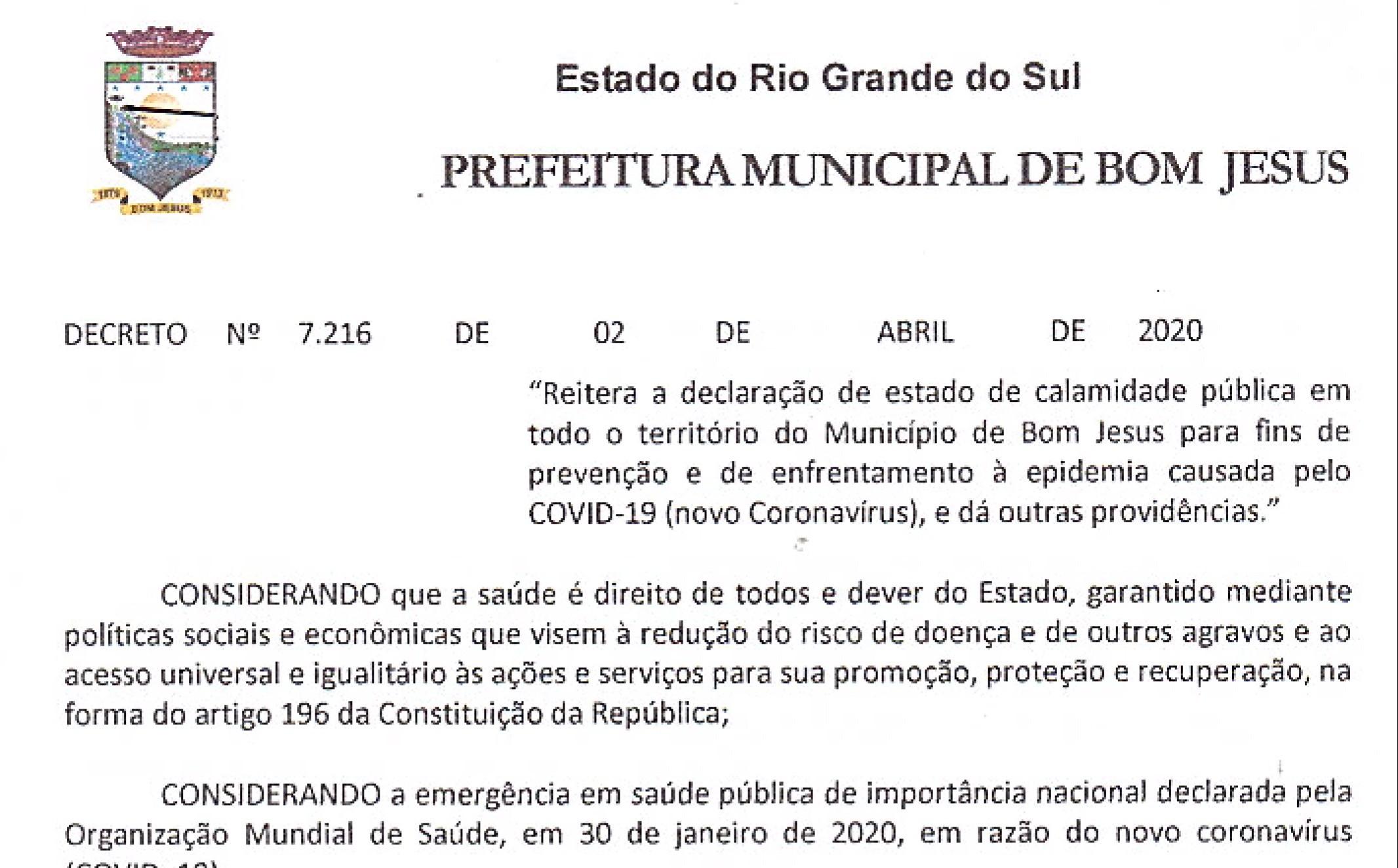 Foto de capa da notícia Decreto Municipal referenda enfrentamento ao coronavírus