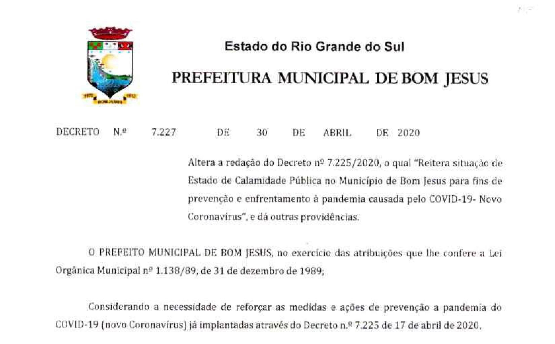 Foto de capa da notícia Decreto prorroga ações de enfrentamento à covid-19